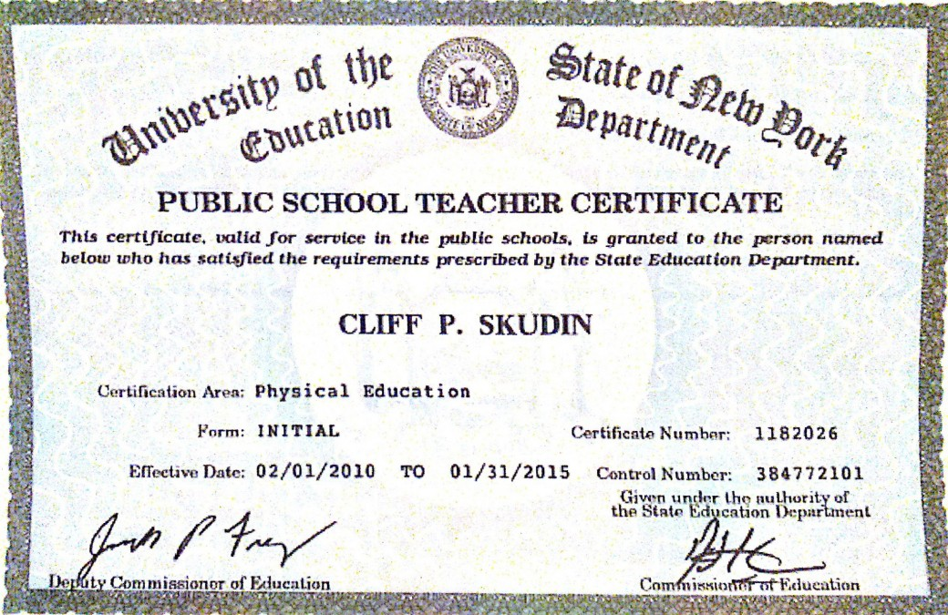 New York State Teaching Certification Skudin Surf