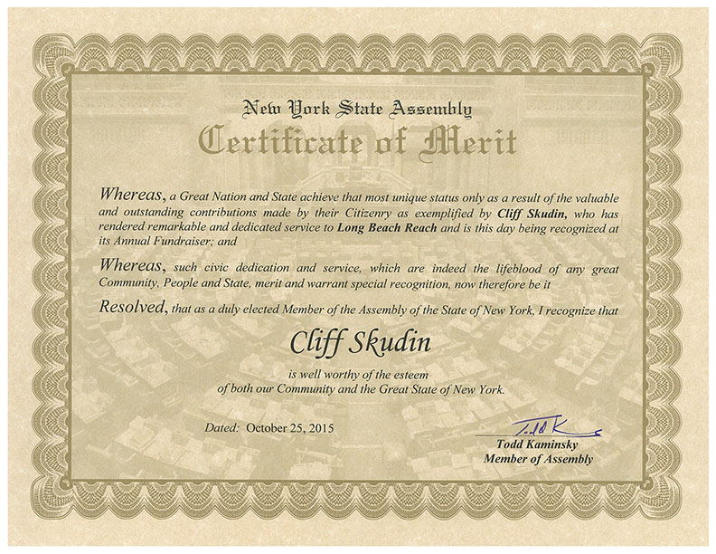 nysa certificate of merit