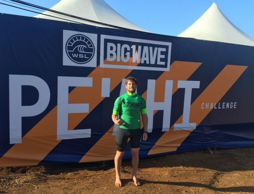 Will Skudin finishes 6th in Pe'ahi Big Wave World Tour Event and is now 5th in the World Title Race.