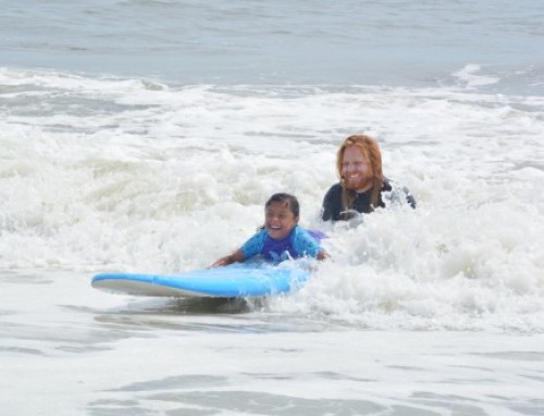 Hospital Patients Make a Splash on Adaptive Surfing Trip in Long Beach